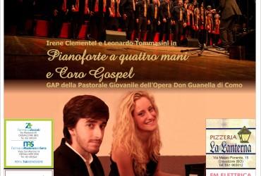 """Concerto """"GRAN GALA' D'AUTUNNO – Pianoforte a quattro mani e Coro Gospel"""""""
